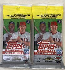 2019 Topps Series 2 Baseball Fat Pack 2 PACK LOT Tatis, Guerrero No# Alonso RC?