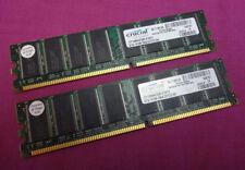 Mémoires RAM DDR SDRAM Crucial avec 2 modules