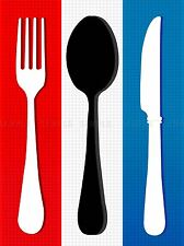 FRENCH FLAG CUTLERY KITCHEN BEDROOM FOOD PHOTO ART PRINT POSTER PICTURE BMP333A