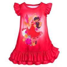 Girl ELENA AVALOR NIGHTSHIRT Child Small XS 4 Disney Store Pajamas Nightgown PJs