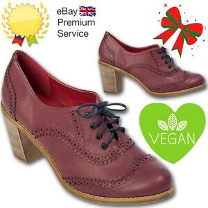 Banned Apparel 70s Burgundy Retro Betty Does Country Lace Up Vegan Shoe Booties