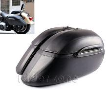 Motorcycle Hard Saddle Bag Saddlebags Luggage Trunk Case Box for Harley Yamaha