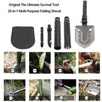 Original The Ultimate Survival Tool 23-in-1 Multi-Purpose Folding Shovel TA