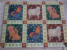 "4 WILSCOMBE Homewares COUNTRY FARM ANIMALS 11 1/2"" x 15"" Placemats - NIB"