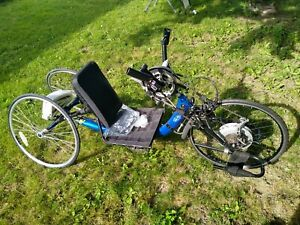 Recumbent Hand Pedal Trike-with pedal assist