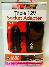 Motor Trend Triple 12V Socket Adapter. New in box and lowest on eBay.