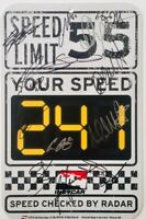 Indy Car Speed Limit Sign Signed by Simon Pagenaud, Andretti, Rahal & 11 Others