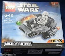 LEGO STAR WARS First Order SNOWTROOPER Mini Figure with  SNOWSPEEDER new boxed
