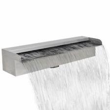 vidaXL Waterval voor Vijver/Zwembad Vierkant 45 cm RVS Waterornament Decoratie