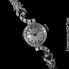1971 LONGINES Vintage Ladies Dress Watch - 14K White Gold & Diamonds