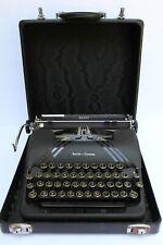 Vintage 1940s Smith Corona Silent Typewriter Black Matte Finish Clean Wkg Case
