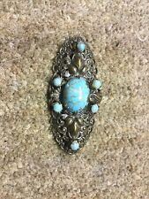 Pin Brooch  With  Turquoise Stones
