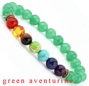 7 Chakra Healing Balance 8mm Natural Stone Elasticity Beads Women Men Bracelets