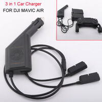 3 in 1 Car Charger Battery Remote Control USB Charging for DJI Mavic Air Drone