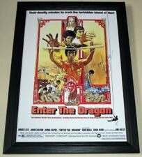 """Enter The Dragon Signed & Framed 12""""x8"""" A4 Photo Poster Bruce Lee"""