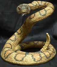 "VENOM  Statue Figurine DWK Western Diamond Back Rattlesnake H10"" x L11"" snake"