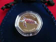 2019 Indian Ocean Hawksbill Turtle 50p Coin Coloured BUNC Sealed NEW
