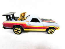 Hot Wheels 69 Chevy El Camino Flat Gray Red and Yellow Stripes 1999 Malaysia