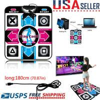 USB Non-Slip Dancing Dance Step Mat Pad for PC TV AV Video Household Game NEW US