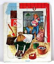 Puzzle Le fermier Playskool vintage 16 pièces
