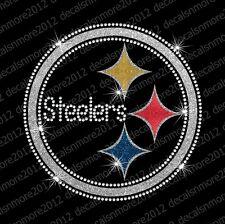 NFL:  Pittsburgh Steelers - Bling Iron-on Glitter Vinyl & Rhinestone Transfer