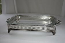 Antique Silver Serving Dish (9x13)