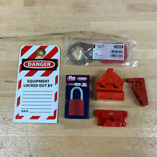 """PERSONAL LOCKOUT / TAGOUT KIT WITH ALUMINUM LOCK, 1"""" STEEL HASP, TAG & DEVICES"""