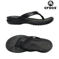 Crocs Womens Capri Sequin Flip Flop Ladies Croslite Cushioned Toe Post Sandals