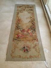 """Chateaux"" Handwoven FRENCH AUBUSSON WEAVE TAPESTRY 3' wide x 8' tall"