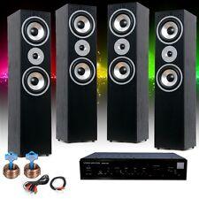 Hifi Heimkino Stereo Musikanlage AUX Verstärker 4x Standboxen 2x 10m Boxenkabel