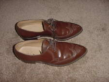 VINTAGE 70s 80s COWBOY WESTERN STYLE SIZE 10 MENS DRESS SHOES BROWN SAGA
