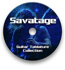 SAVATAGE ROCK GUITAR TAB TABLATURE SONG BOOK ANTHOLOGY SOFTWARE CD