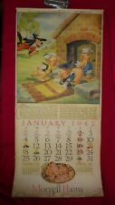 Complete 12-Month 942 Morrell'S Meats Walt Disney Calendar - Rare!