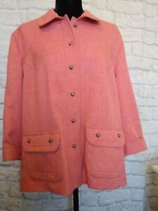 NWOT Alfred Dunner Pink 2 Piece Pants Suit Pants Size 14P Jacket Size 16