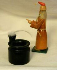 Set of 2 Christian Ulbricht  Struwwelpeter Wizard Inkwell Wood Figurines Germany