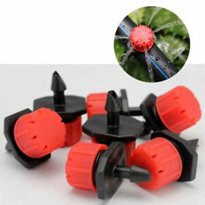 Red Shrubbler / Dripper Barb Garden Micro Irrigation 360 Adjustable Sprinkler