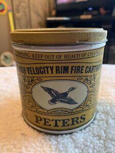 Vintage Peters Cartridge Ammunition Tin
