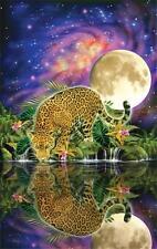 SUNSOUT JIGSAW PUZZLE LEOPARD MOON JOHN M. ENRIGHT 550 PCS #80115