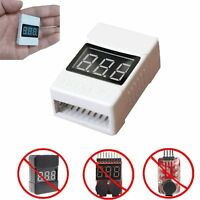 Low Voltage Alarm RC Monitor for 1S to 8S LiPo Batteries LCD Volt Meter Checker