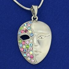 Mask Made With Swarovski Crystal Phantom Opera Theater multi Color Necklace