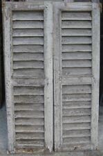 Vecchia finestra a griglia in legno vecchio prezzo per la coppia cm 89 x149 - 2