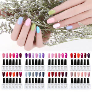 Nail Gel Polish 6PCS Colour Soak Off Base Top Manicure Gift Set Elite99 UV LED
