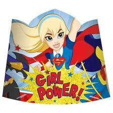 8 paquets DC Super Héros filles papier TIARES enfants Anniversaire Cadeau Fête