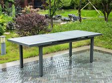Gartentisch Alu AUSZIEHBAR Balkontisch Esstisch Tisch Loungetisch Beistelltisch