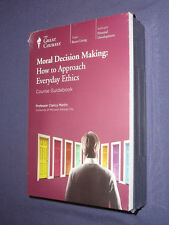 Teaching Co Great Courses  CDs            MORAL DECISION MAKING     new & sealed