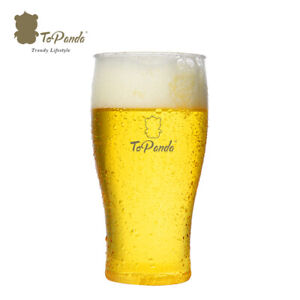 ToPanda Pint Craft Beer Glass (2 pcs) Cocktail Cup Plastic Mug Outdoor Barware