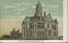 Old Vintage Court House And Jail In Napoleon Ohio 1909 Postcard