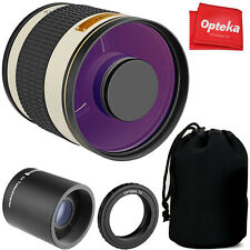 Opteka 500mm/1000mm f6.3 Telephoto Lens for Canon Rebel T8i T8 T7i T7s T7 T6i T6