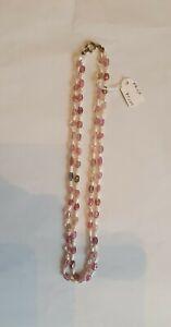 Rosa Turmalin  mit Perlen kette Salzwasser Perlen aus Japan 2er  rahige 41cm