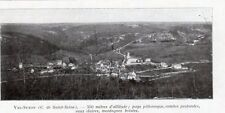21 VAL SUZON VUE GENERALE IMAGE 1924 OLD PRINT